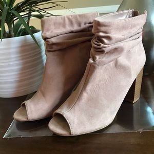 Open Toe Ankle Booties  8M